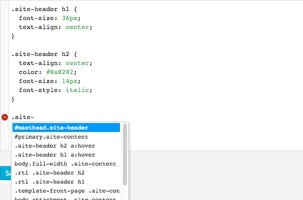 SiteOrigin CSS Editor - SiteOrigin