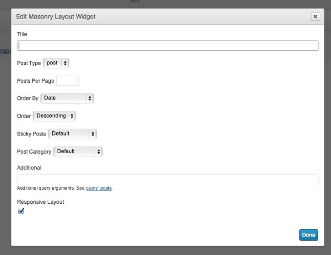 Masonry Plugin Documentation - SiteOrigin