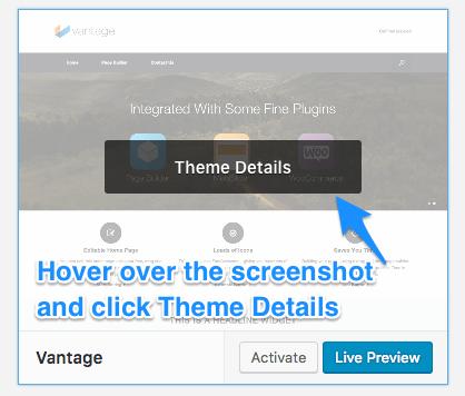 Click Theme Details