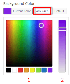 Background Color Pallet