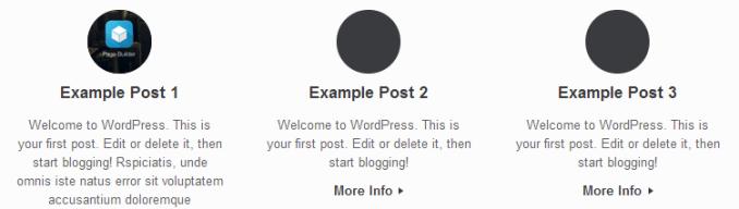 Blog Layout Circle Icon