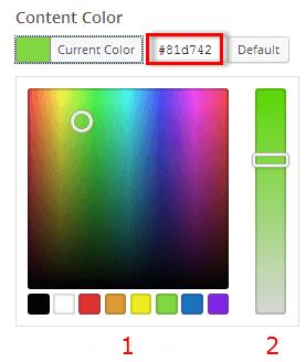 Content Color Pallet