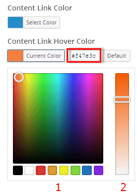 Link Color Settings