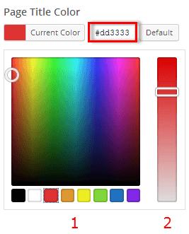 Page Title Color Pallet