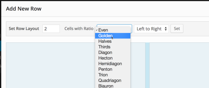 Select a professional column ratio.