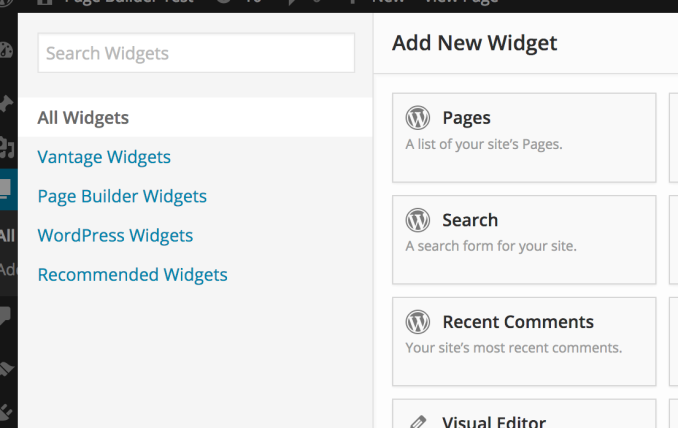 Browse widget groups.