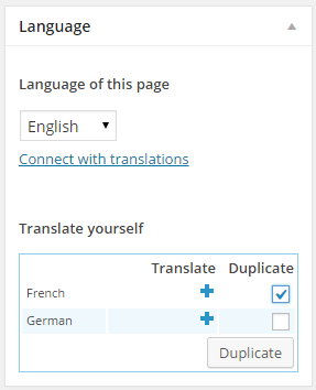 Using page builder with wpml siteorigin click on the check box next to the languages you want and click duplicate in this example i have selected french solutioingenieria Images