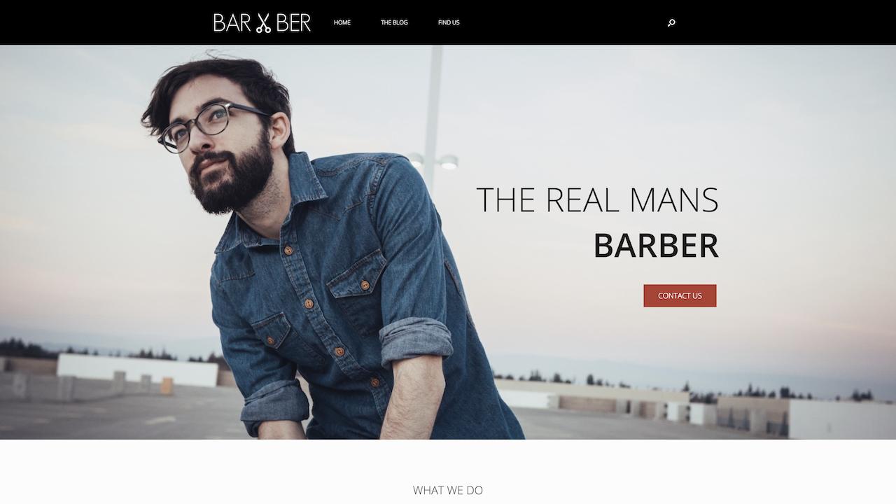 Free Prebuilt Barber Style Multi-Page Wordpress Website - SiteOrigin