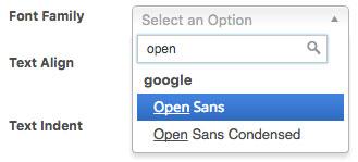 SiteOrigin Premium Google Font selector