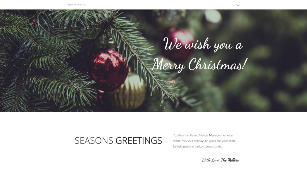 cee6befcc806 Merry is a one-page prebuilt website for the festive season and wishing your  family and loved ones a Merry Christmas and a Happy New Year.