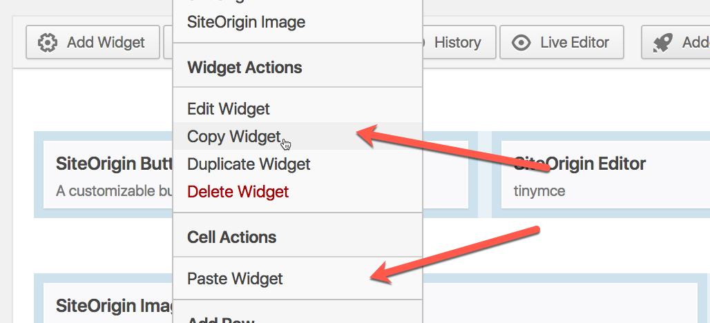 Page Builder Copy Paste - SiteOrigin