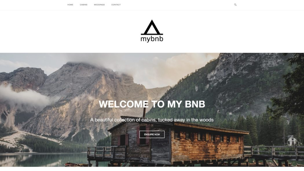 free prebuilt wordpress website template for bed and breakfast