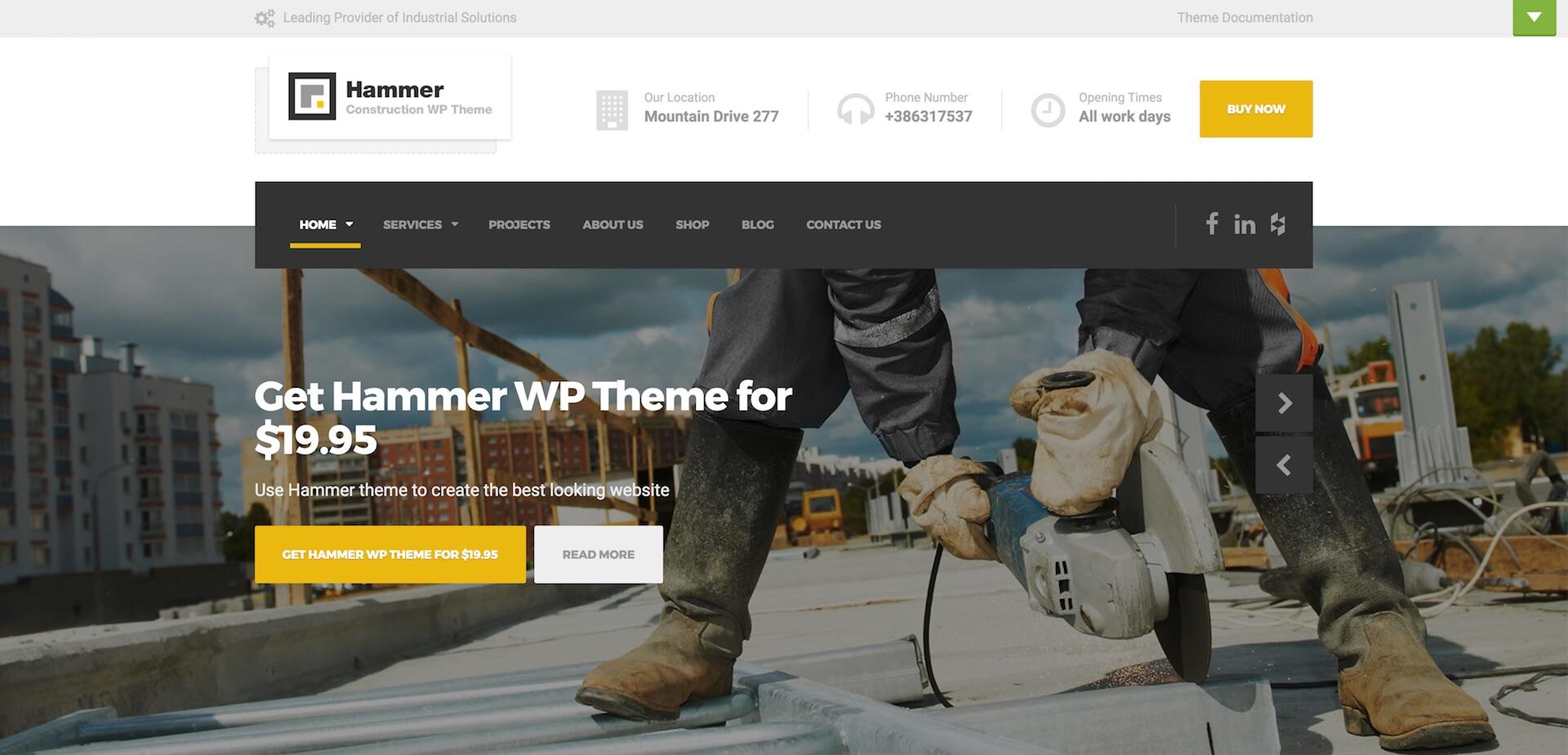 Hammer WordPress Theme - SiteOrigin