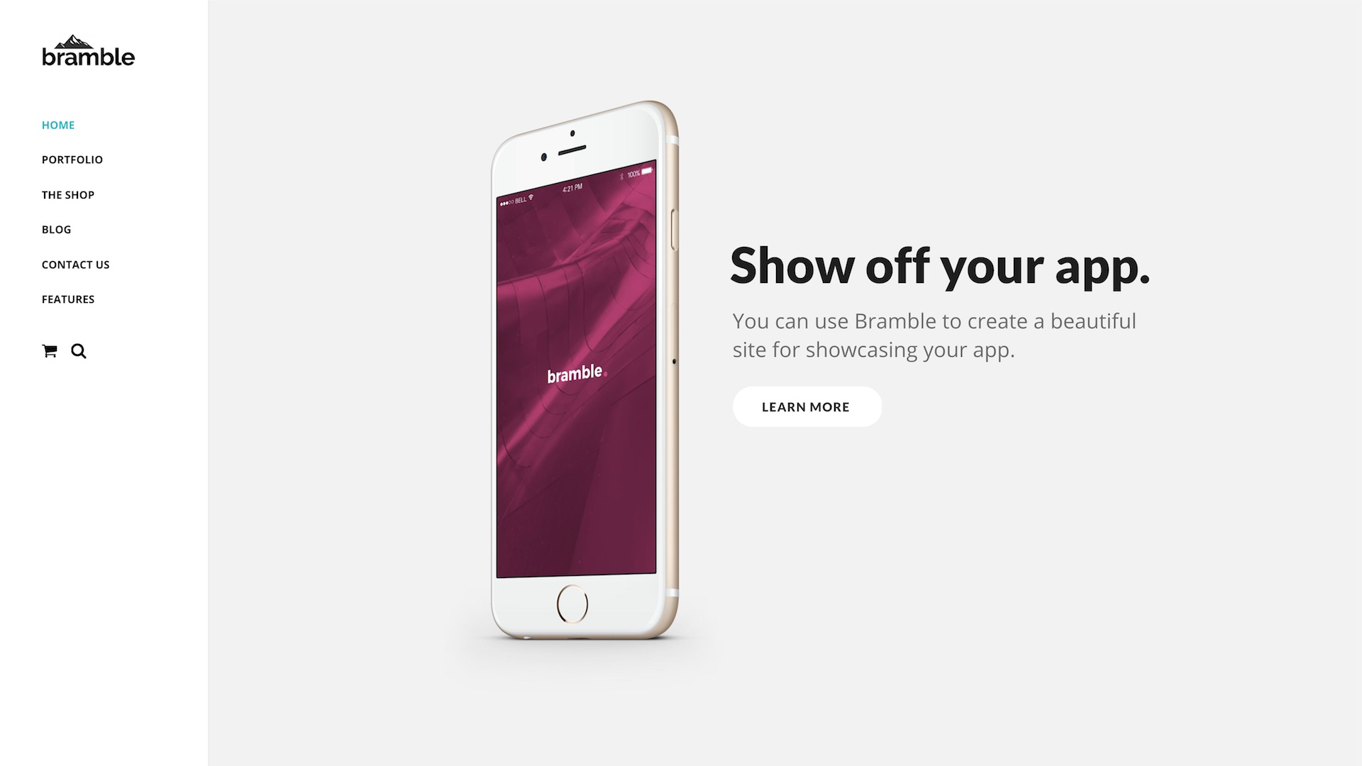 Bramble Responsive WordPress Theme Desktop View