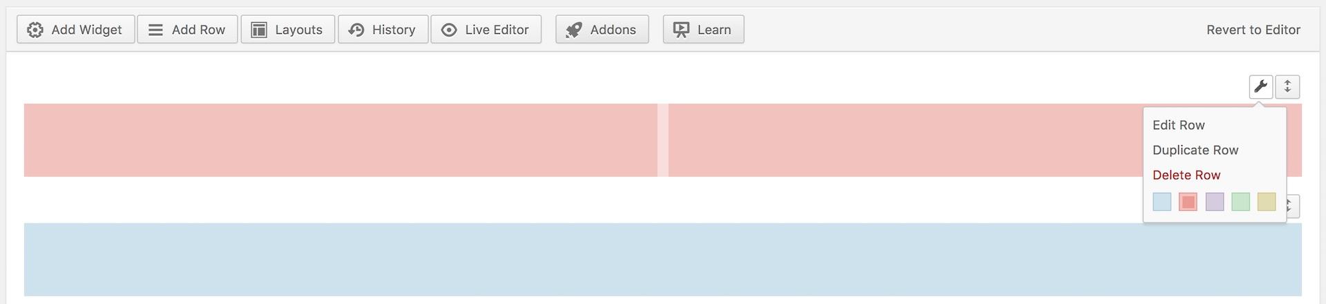 SiteOrigin Page Builder Row Color Labels
