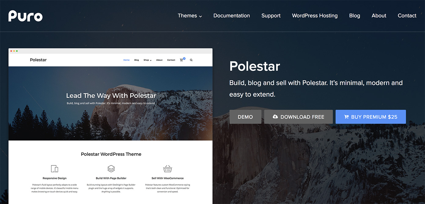 Polestar WordPress Theme - SiteOrigin