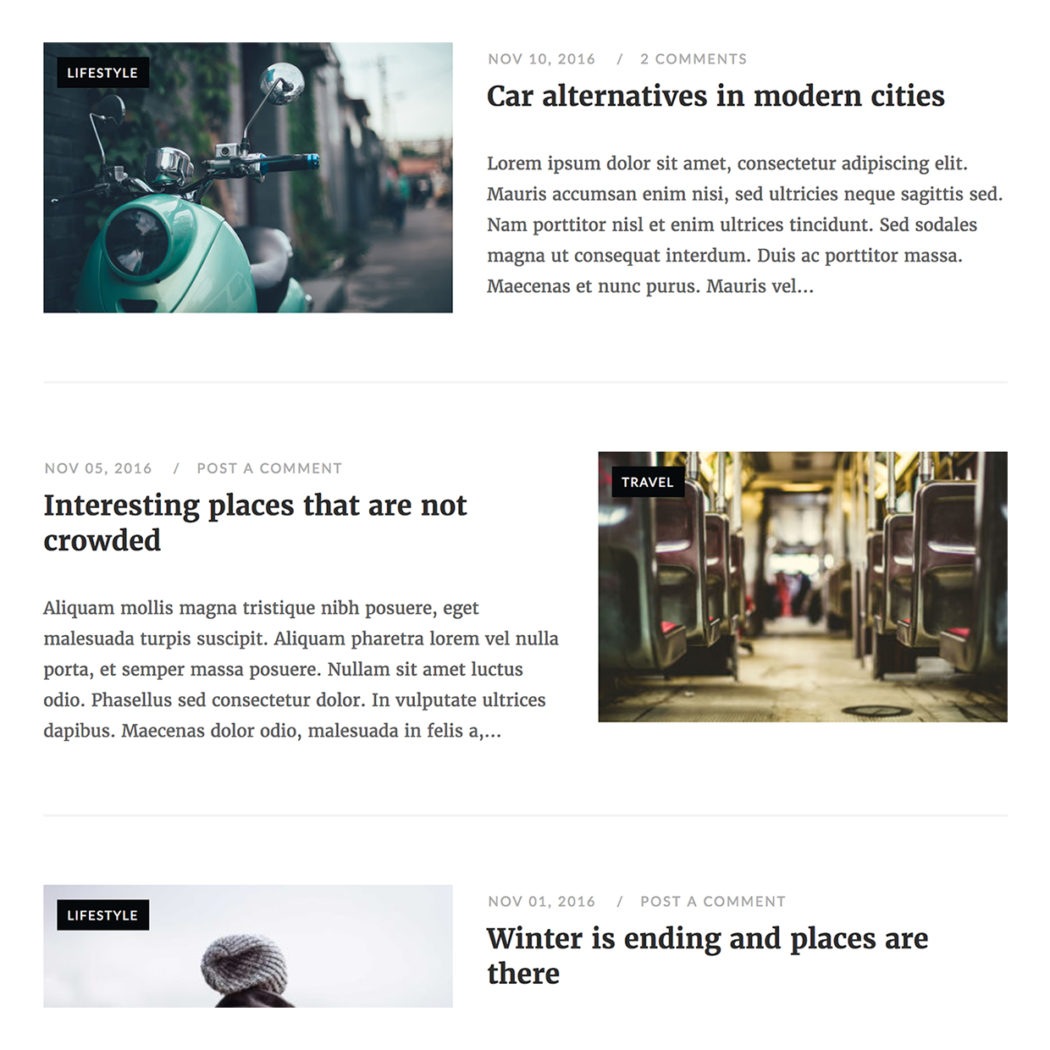 New Blog Layouts for Unwind - SiteOrigin