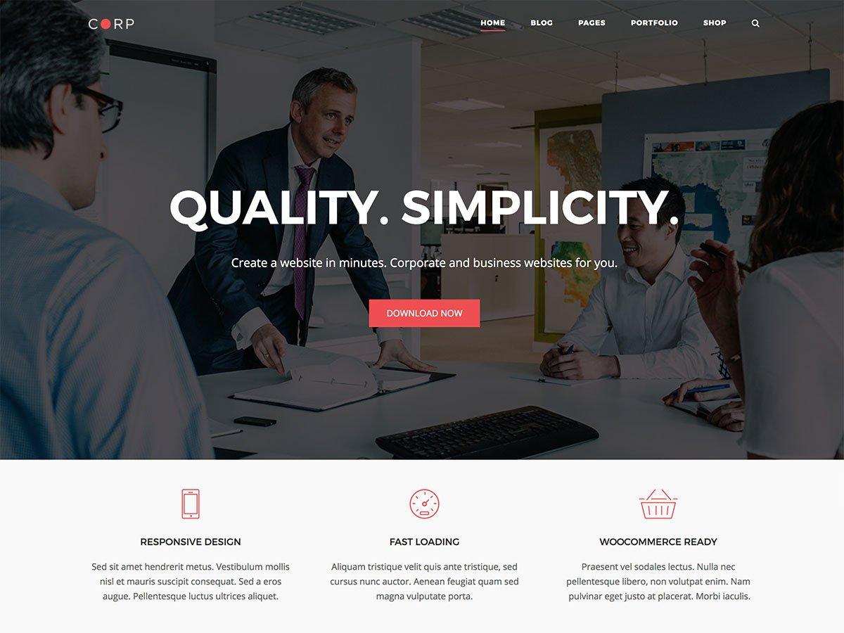 Corp WordPress Theme - SiteOrigin