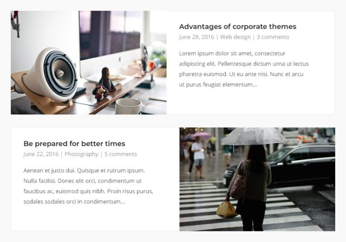 Four New Blog Layouts Added to Corp Theme - SiteOrigin