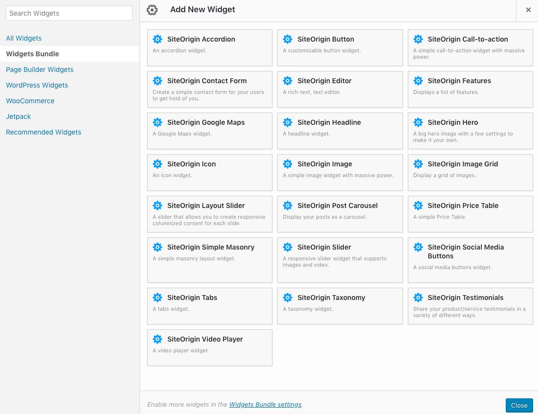 Google Maps Widget - SiteOrigin on