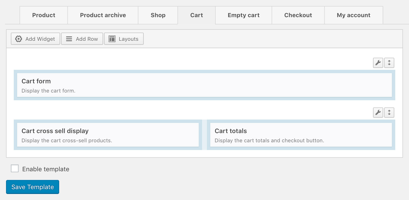 WooCommerce Cart Template