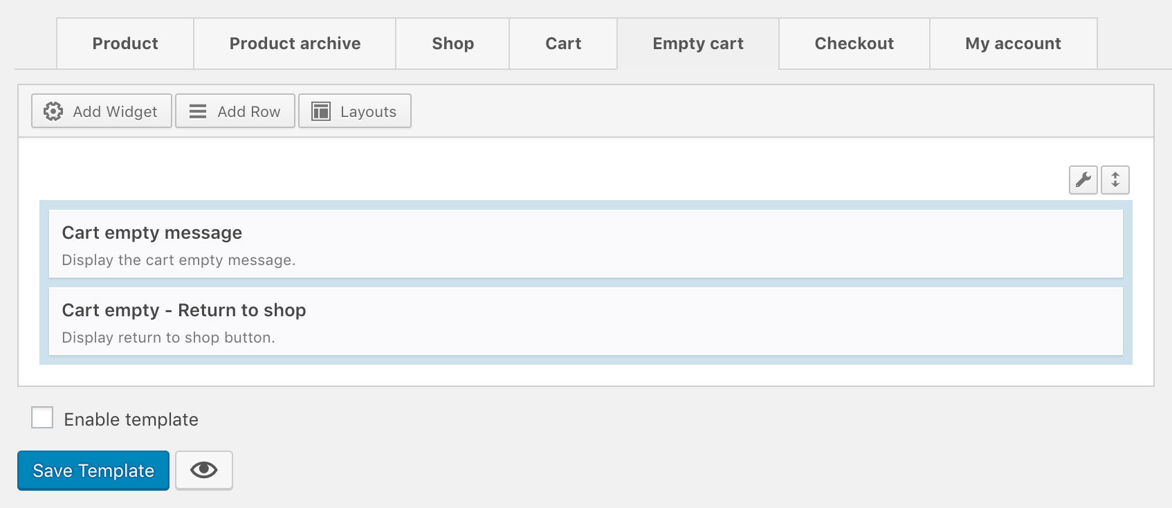 WooCommerce Empty Cart Template